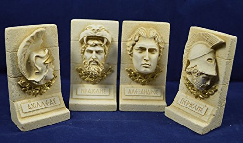 Alexander The Great Heracles Achilles Pericles Ancient Greek Sculpture Set Estia Creations