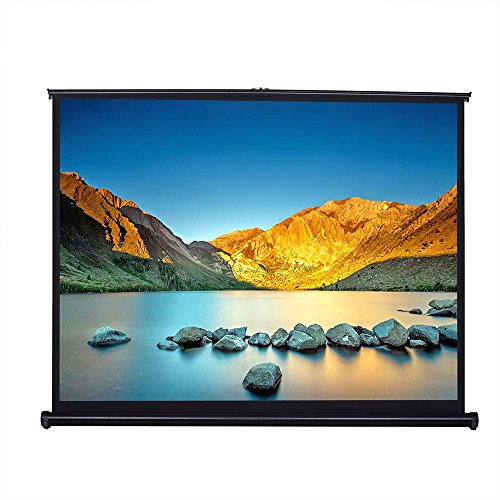 """Price comparison product image Yescom 50"""" 4:3 Tabletop Pull-Up Projector Screen Portable Easy Pullout Fast Fold & Unfold Handheld Projection"""