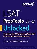 LSAT PrepTests 52-61 Unlocked: Exclusive Data + Analysis + Explanations (Kaplan Test Prep)