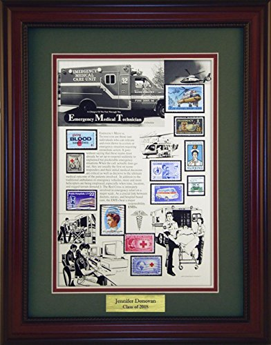 EMTs - Unique Framed Collectible (A Great Gift Idea) with Personalized Engraved Plate