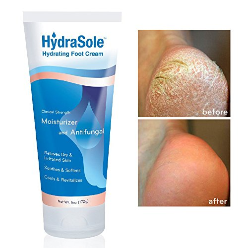 Cracked Heel Treatment HydraSole Foot Cream, new clinically effective cream to repair rough, dry and cracked heels