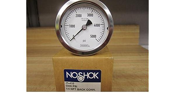 Noshok 25-410-5000 Pressure Gauge 25410 0-5000 PSI 1/4 NPT Steel
