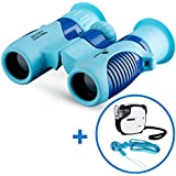BNISE Binoculars for Kids Gift, Compact Design 8X21, Perfect for Bird Watching, Hunting, Stargazing and Outdoor Play, Include Mini Microscope and Neck Strap, Best Gift and Toys for Boys and Girls
