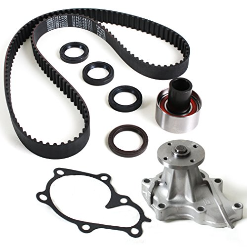 New TCK249WP (133 Round Teeth) Timing Belt Seals Kit & Water Pump Set for 94-98 Nissan Quest/Mercury Villager 3.0L V6 SOHC (12-Valve) VG30E