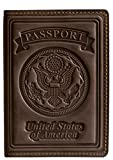 Villini 100% Leather US Passport Holder Cover Case For Men Women In 8 Colors ()