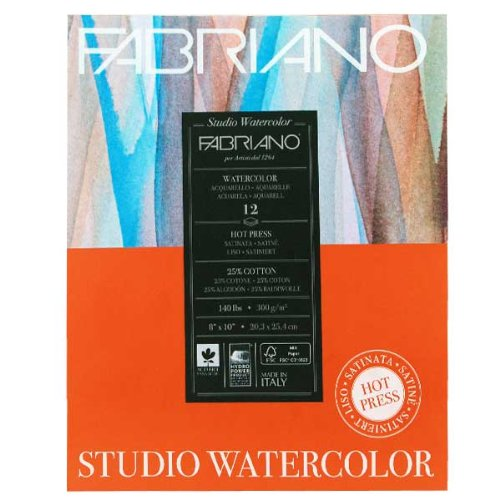 Savoir Faire Fabriano Studio Watercolor Pad 8X10 HP -