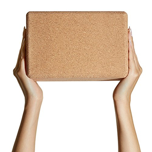 "Set of 2 Basically Perfect Cork Yoga Blocks, Eco Friendly, Non Toxic, Non Slip, Will Not Chip, 9"" x 6"" x 4"", Naturally Self Sanitizing"