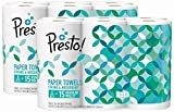 Health & Personal Care : Amazon Brand - Presto! Flex-a-Size Paper Towels, Huge Roll, 12 Count = 30 Regular Rolls
