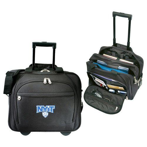 NYIT Embassy Plus Rolling Black Compu Brief 'Primary Mark' by CollegeFanGear