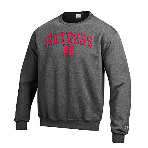 Pullover Sweatshirt Scarlet (Elite Fan Shop Rutgers Scarlet Knights Crewneck Sweatshirt Varsity Charcoal - XL)