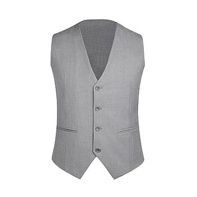 Zicac - Chaqueta blazer de negocios para hombre / caballero, estilo británico, 4 botones, chaleco resitente clásico para salir / informal, ajustado, ...