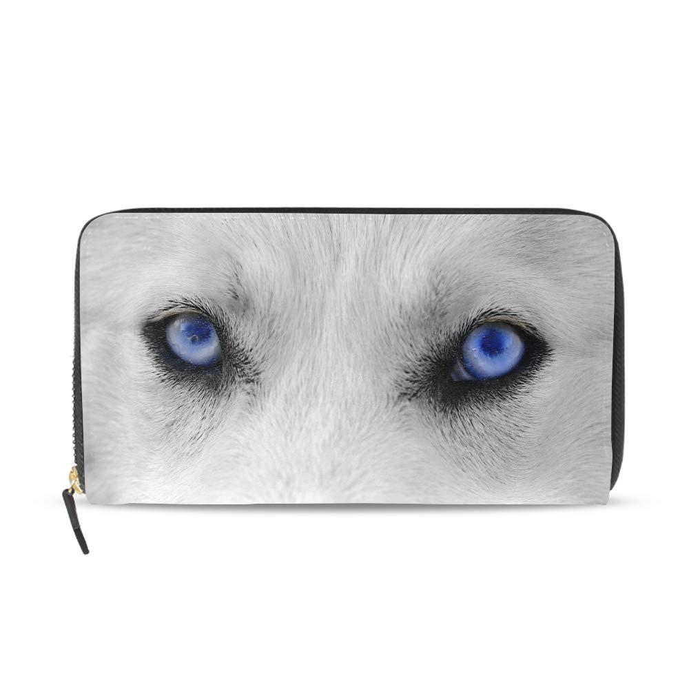 Women Mystic Creatures Wallet Ladies Zip Around Clutch Purse