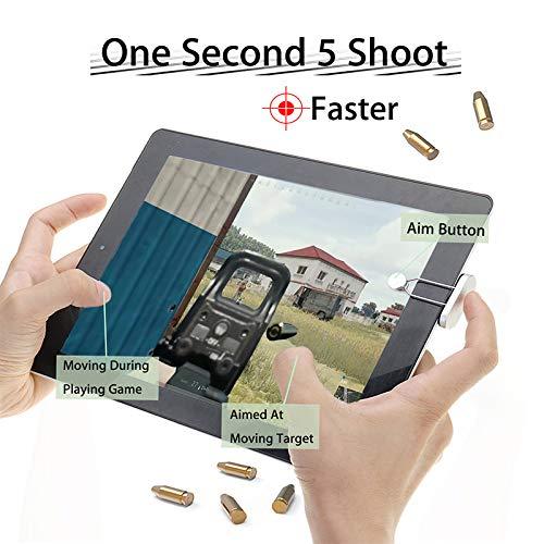 SODIAL Controlador De Juego Para Pad Tablet Pc Gatillo De Juego De Metal Bot/ón Para Disparar Y Objetivo Tocable De 180 Grados Regalo Para Jugador