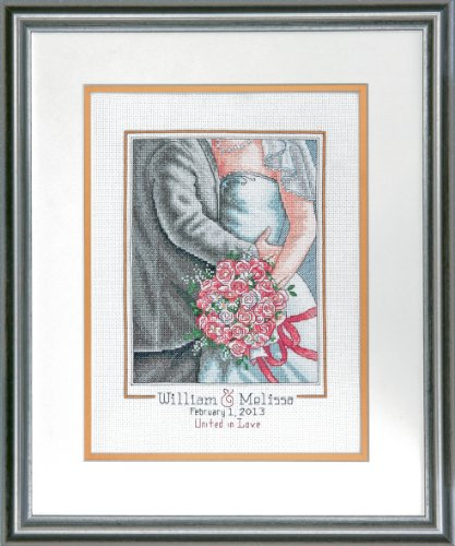 (Dimensions Needlecrafts Counted Cross Stitch Kit, Embrace Wedding Record)