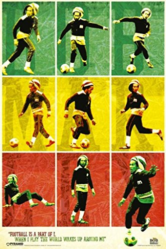 - Pyramid America Bob Marley Football Poster Poster 12x18 inch