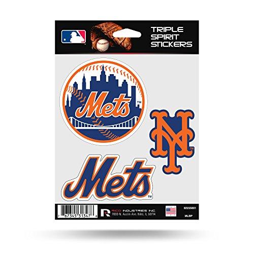 Rico Industries New York Mets Triple Sticker Multi Decal Spirit Sheet Auto Home -