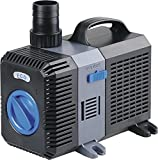 EXTRAUP 2100GPH Electric Adjustable Flow Garden Sumbersible Fountain Pond Filter Silent Pump for Fish Pet Aquarium Tank Waterfall Koi Salt Clear Water