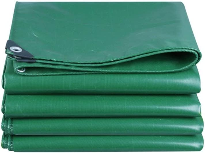 Juexianggou 緑の防水シート防水布日焼け止めテントトラックシェードキャンバスポンチョ家族キャンプ場屋外で保護層、厚さ0.5 mm、550 g/m 2、6サイズオプションf 防水テントタープ  4*5