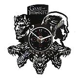 Clock Game Of Thrones, Vinyl Wall Clock, 12 inch Clock, Game Of Thrones Gift, Night King, Gift For Woman, Game Of Thrones Wall Clock, GoT Clock, Wall Clock Large, Wall Clock Modern, Daenerys Clock