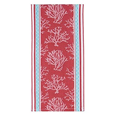 Kay Dee Designs R3286 Beach House Inspirations Coral Jacquard Tea Towel