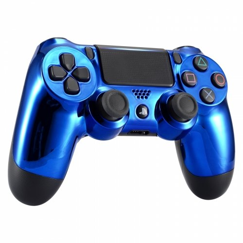 - Chrome Blue Playstation 4 PS4 Dual Shock 4 Wireless Custom Controller