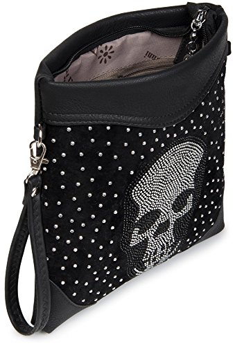 and 02012049 ladies rivet Red shoulder red styleBREAKER skull bag rhinestone Claret Claret rhinestone with applications Color clutch pRnxY8wqP