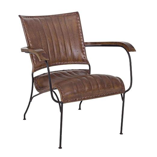 ARREDinITALY - Juego de 2 sillones con Estructura de Acero ...