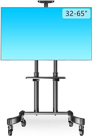 ROMX Soporte Negro para TV móvil Soporte de Piso con Pantalla Plana de 32 a 55