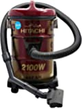 Hitachi CV960Y24CBSWR 21 Liter Corded Canister Vacuum Cleaner Red, 1 Year Warranty