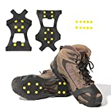 Carryown Ice Grips Traction Cleats Ice Cleats Snow Grips Snow Cleats for Men and Women+ 10 Extra Replacement Studs (S, M, L, XL)