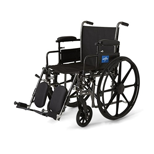 K3 Wheelchair with Height-Adjustable Swing-Back Desk-Length Arms and Swing-Away Footrests, 300 lb. Weight Capacity, 16