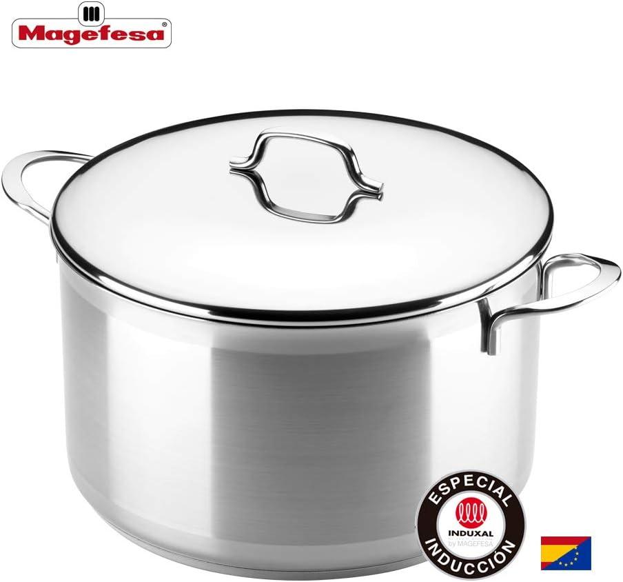 MAGEFESA MILENIUM – La Familia de Productos MAGEFESA MILENIUM está Fabricada en Acero Inoxidable 18/10, Compatible con Todo Tipo de Cocina. Fácil Limpieza y Apta lavavajillas (Olla, 24_cm): Amazon.es: Hogar