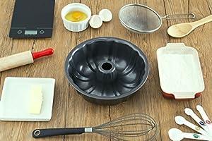 Home Basics Fluted Cake Pan, Non-Stick