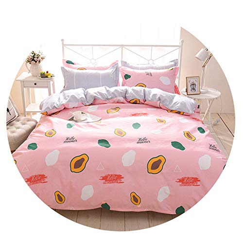 Flower Fruit Fashion Bedding Sets/Bed Set/Bedclothes for Kids/Bed Linen Duvet Cover Bed Sheet Pillowcase,Twin Full Queen 30,012,Full