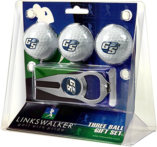 LinksWalker NCAA Georgia Southern Eagles - 3 Ball Gift Pack with Hat Trick Divot (Georgia Southern Eagles Golf)