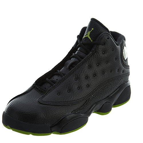 Nike 414575-042 Preschool Jordan 13 Retro BP Jordan Black/Altitude Green-White by NIKE