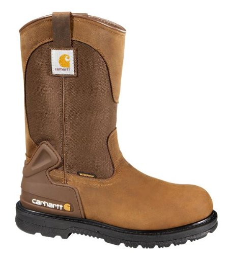 Carhartt Men's CMP1100 11 Wellington Work Boot,Bison Brown Oil Tan,13 M (Waterproof Wellington Pull)