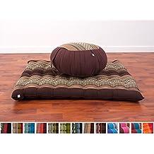Meditation Set: Zafu Cushion, Zabuton Mat, 30x28x10 inches, Kapok Fabric