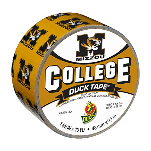 Duck Brand 241419 University of Missouri Mizzou College Logo Duct Tape, 1.88-Inch by 10 Yards, Single -