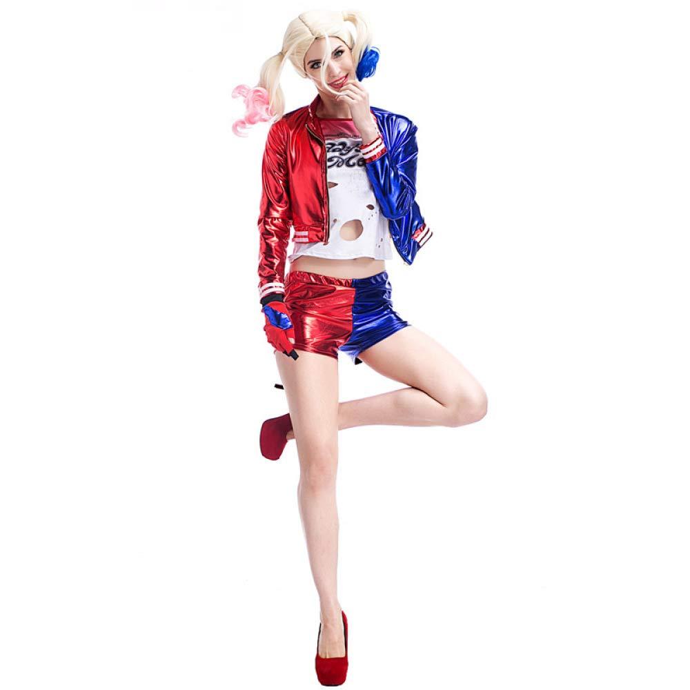 COSOER Suicide Squad Clown Female Suit Uniforme De Apelación ...
