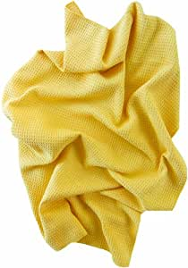 Microfiber Towel -- Giant 36 X 36 Inch Premium Waffle Weave is Super Absorbent -- Fast Drying of Cars, Trucks, Pets, Showers, Hair, & Cleaning Spills, too -- Cloth is Lint and Streak-Free