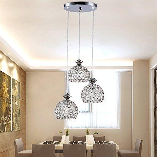 secinbo modern pendelleuchte 3 flammig h ngelampe kristall aussehen l ster e27 ebay. Black Bedroom Furniture Sets. Home Design Ideas