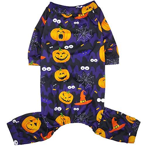X Small Dog Halloween Costumes (Lamphyface Halloween Dog Pajamas Clothes Pet Costume Apparel Coat)
