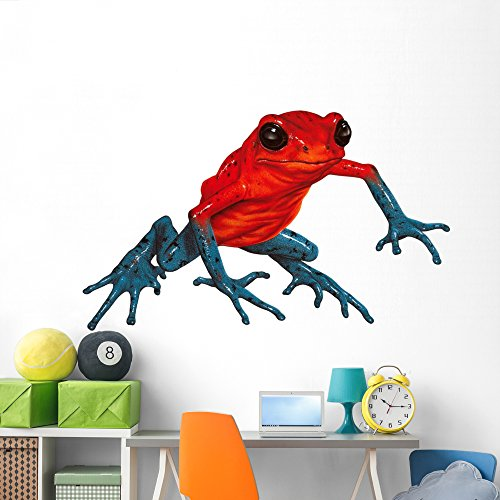 (Poison-dart Frog Wall Decal by Wallmonkeys Peel and Stick Graphic (72 in W x 44 in H) WM85559)