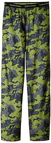 Pants Fleece Boys Pajama (Calvin Klein Little Boys' Sleep Pant, Digital Camo Green, 7/8)