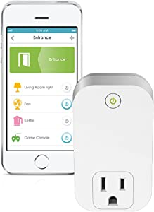 D-Link Wi-Fi Smart Plug In Wall, Home Control From Anywhere with mydlink App, Works with Alexa (DSP-W110), 0.1