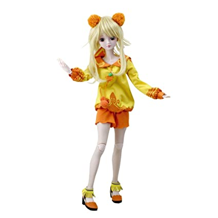 BBYFRANK 60cm Large BJD Ball Jointed Doll Toys Cosplay Rapunzel Dress With Wig  Clothes Shoes For cfbfab0d2ea2