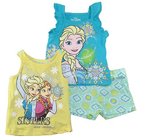 Frozen Disney Little Girls 3pc Tank Top