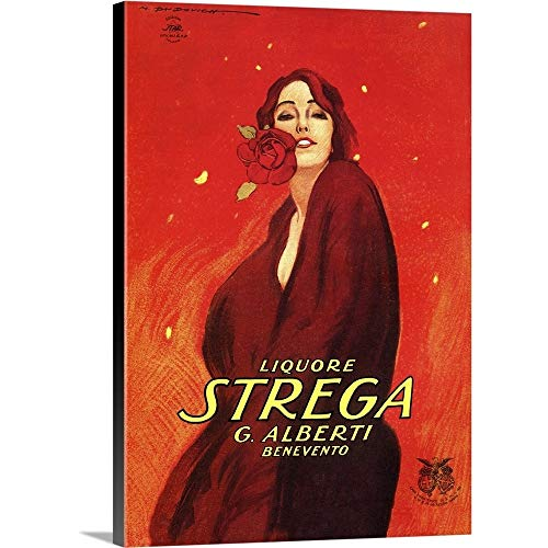 GREATBIGCANVAS Gallery-Wrapped Canvas Entitled Strega - Vintage Liquor Advertisement by Vintage Apple Collection 26