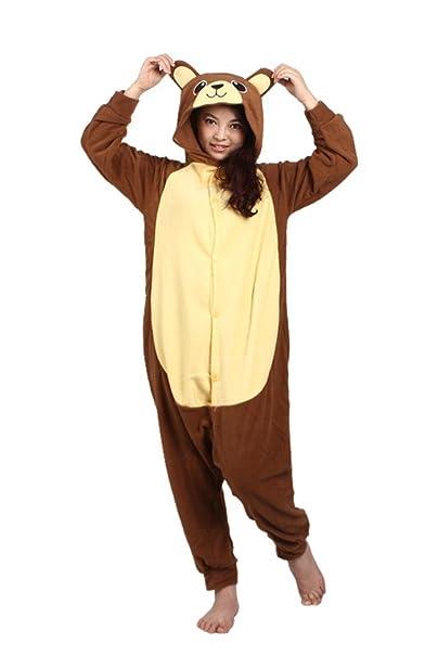 ccb9dd8b84 wotogold Pijama de Oso Animal Trajes de Cosplay Adultos Unisex  Amazon.es   Ropa y accesorios
